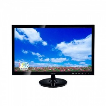 "ASUS 20"" VS208NR LED, 1600x900, 5ms, 250cd/m2, 50Mln:1, 170°/160°, D-Sub, DVI, Black"