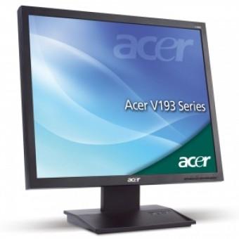 """ACER 19"""" V193DObd, 1280x1024, 5ms, 250cd/m2, 50000:1, 160°/160°, VGA&DVI , ТСО-05, BLACK"""