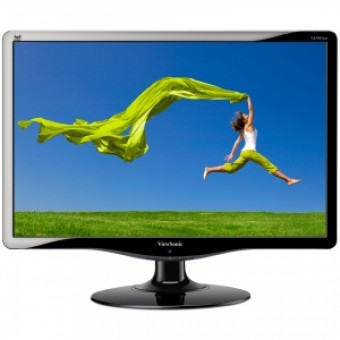 "18,5"" ViewSonic VA1931wa-LED, 1366x768, 5ms, 250cd/m2, 1000:1(10M:1DCR), 170°/160°, TCO'05, Black/Si"