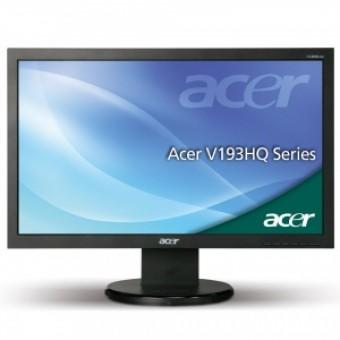 "ACER 18,5"" V193HQLAOb LED, 16:9, 1366x768, 5ms, 250cd/m2, 12M:1, 170°/160°, D-SUB, VESA 100x100, TCO"
