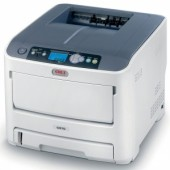 OKI C610n color laser (LED) printer (A4, 1200x600dpi, 34(36)ppm, 256Mb, 2trays 100+300, USB/LAN, PS3