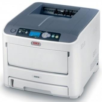 OKI C610n color laser (LED) printer (A4, 1200x600dpi, 34(36)ppm, 256Mb, 2trays 100+300, USB/LAN, PS3