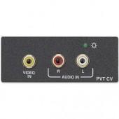 Вставка PVT CV AAP с блоком передачи сигналов Composite Video/стерео аудио по UTP-кабелю, белая