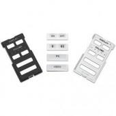 Рамка с кнопками MLM 62 D 6B для контроллеров MLC 62 D, 6 кнопок, (черная и белая)