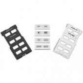 Рамка с кнопками MLM 62 D 8B для контроллеров MLC 62 D, 8 кнопок, (черная и белая)
