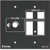 Набор для добавления регулятора громкости к контроллерам MLM 52 (черная пластиковая панель)