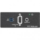 Вставка PVT RGB AAP для VGA и стерео аудио сигналов, черная