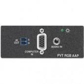 Вставка PVT RGB AAP с блоком передачи сигналов VGA/аудио по UTP-кабелю, сквозной канал ИК, белая