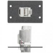 Вставка MAAP с разъемом (1) RJ-45 female - (1) под кабель, для систем XTP и DTP, черная