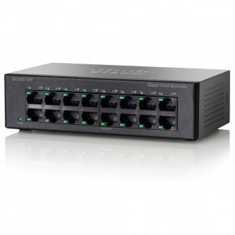 Коммутатор (switch) Cisco SF100D-16P-EU