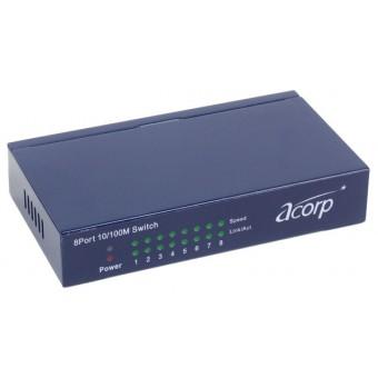Коммутатор (switch) Acorp HU8D